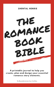 The Romance Book Bible - a printable journal to help you create, plan and design your essential romance story elements.